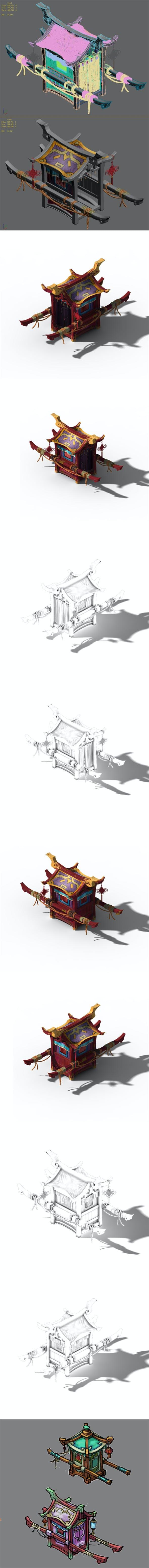 Lin an City components - sedan chair 01 - 3DOcean Item for Sale