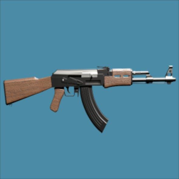 High Poly AK 47 Model - 3DOcean Item for Sale