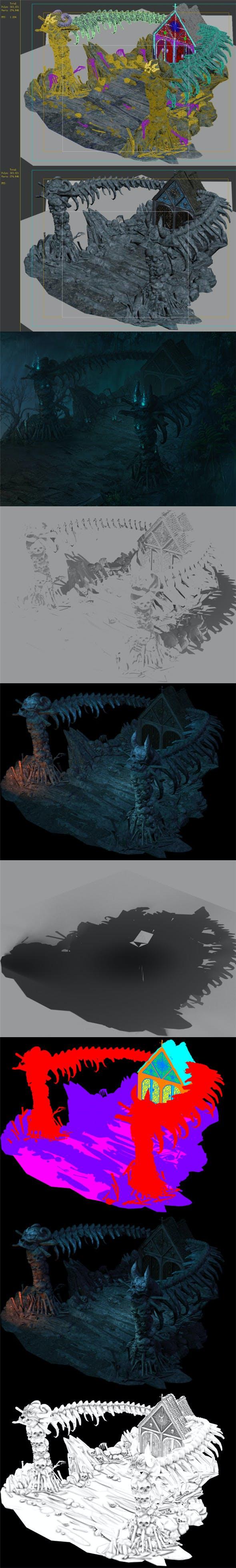 Nibelungen - skeleton of the spine - 3DOcean Item for Sale