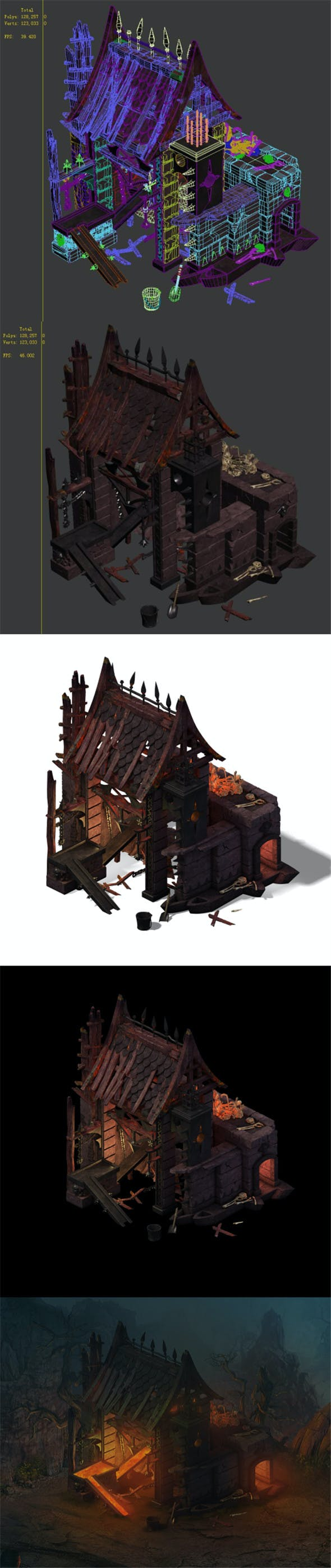 Nibelungen - blacksmith shop - 3DOcean Item for Sale