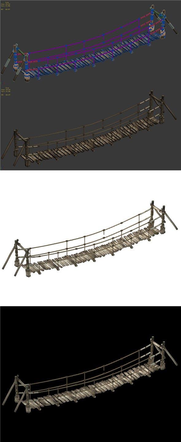 Mountain - rope bridge - 3DOcean Item for Sale