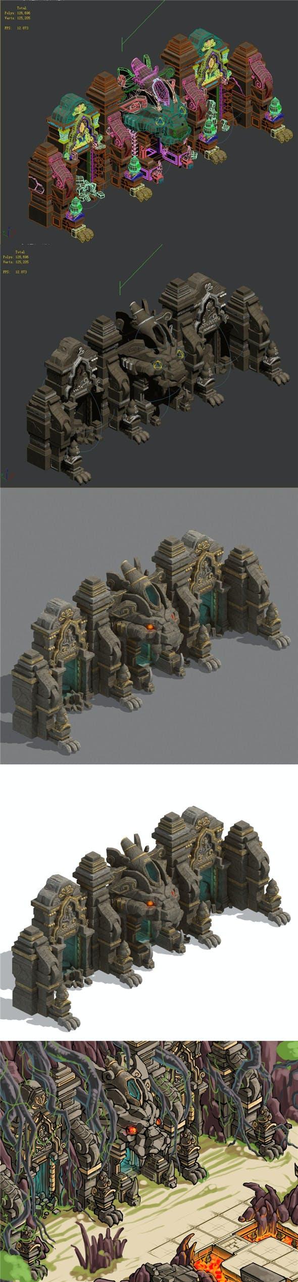 Lion camel ridge door - 3DOcean Item for Sale