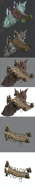 Lion camel hanging bridge - 3DOcean Item for Sale