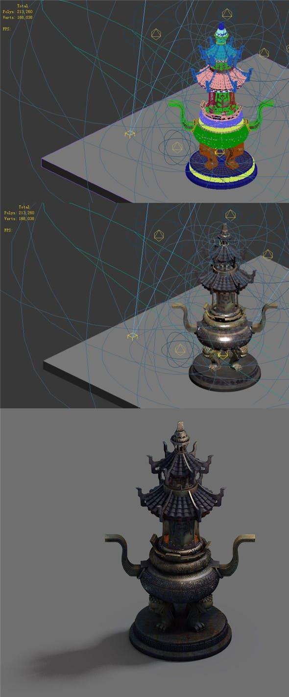 Indoor - incense burner - 3DOcean Item for Sale