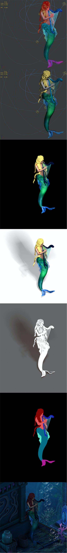 Endless sea - mermaid - 3DOcean Item for Sale