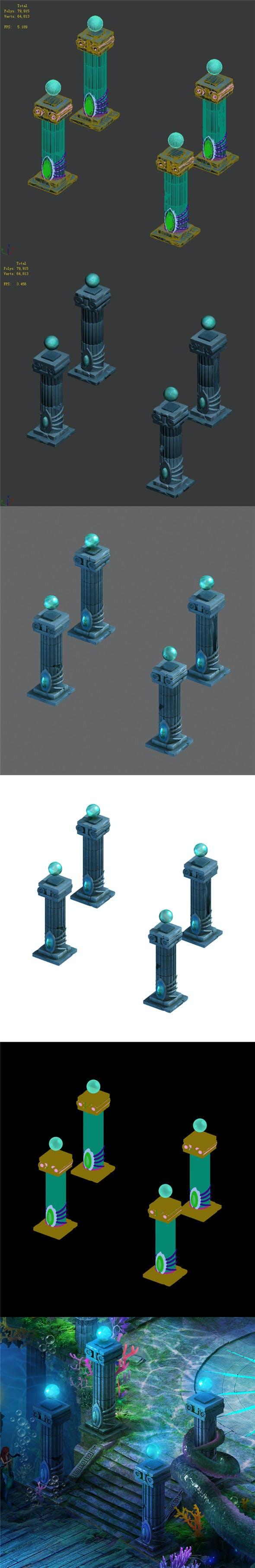 Endless sea - pillars - 3DOcean Item for Sale