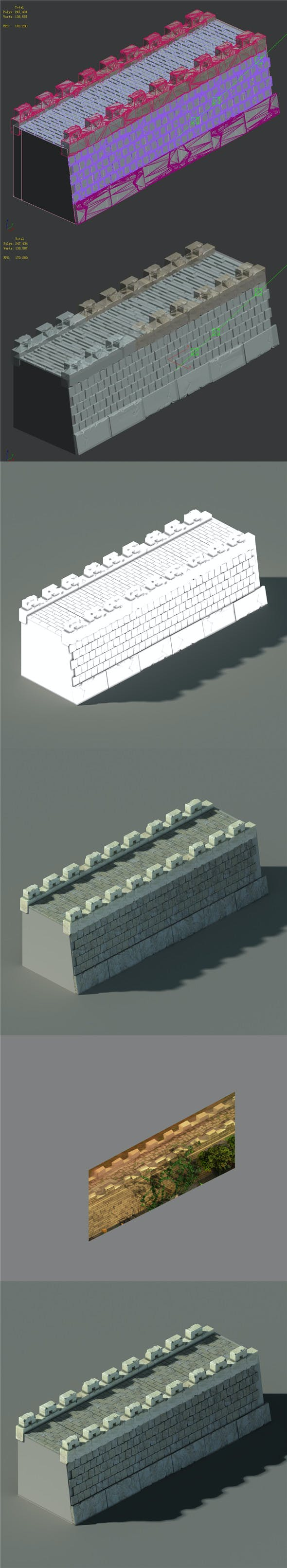 Xiangyang City - City Wall 02 - 3DOcean Item for Sale