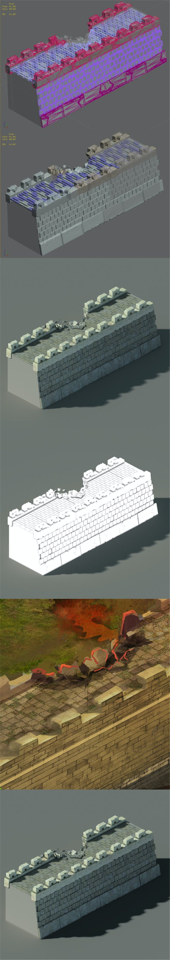 Xiangyang City - City Wall 04 - 3DOcean Item for Sale