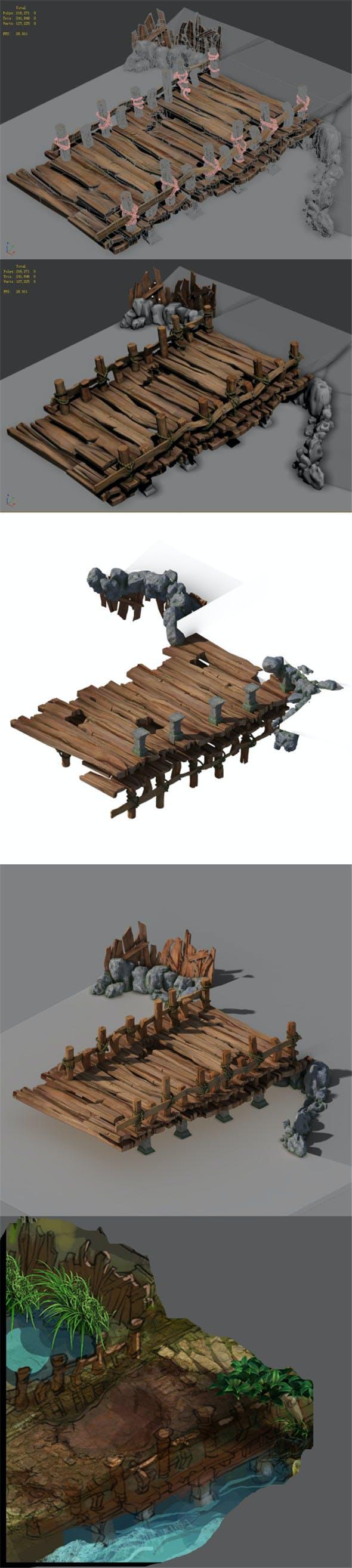 Xiangyang City - Wooden Bridge 01 - 3DOcean Item for Sale