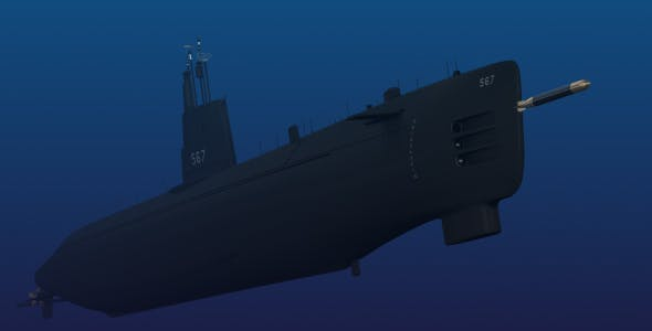USS Gudgeon SS 567 - 3DOcean Item for Sale