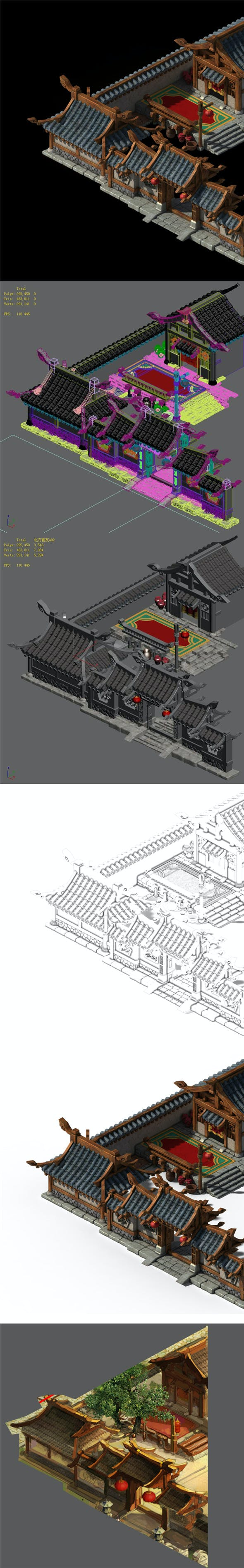 Xiangyang City - House - 3DOcean Item for Sale
