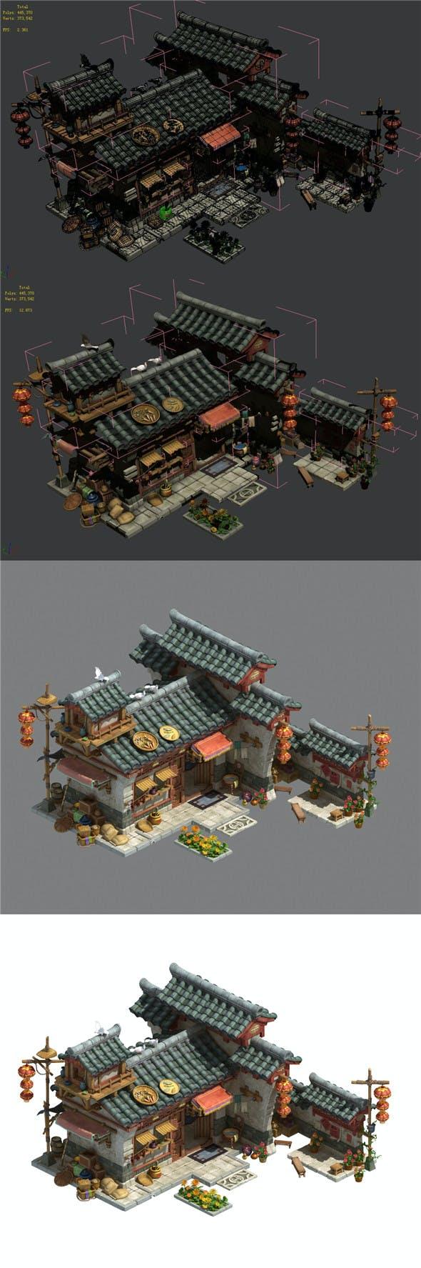 Xinshoucun - village head home - 3DOcean Item for Sale