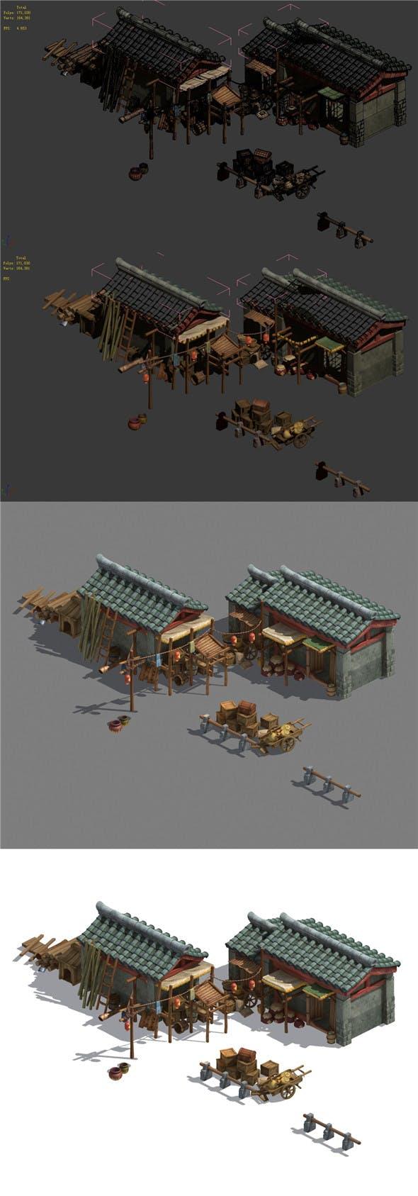 Xinshoucun - storage room - 3DOcean Item for Sale