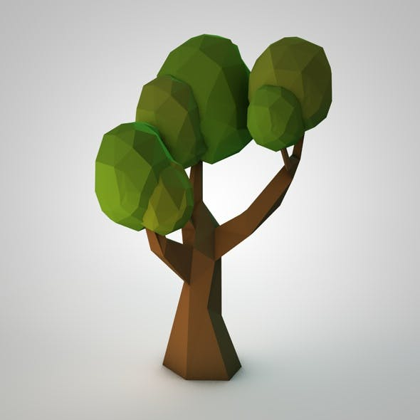 Low-poly Tree - 3DOcean Item for Sale