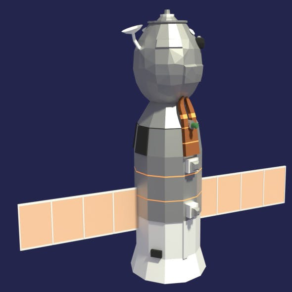 Low Poly Cartoony Soyuz