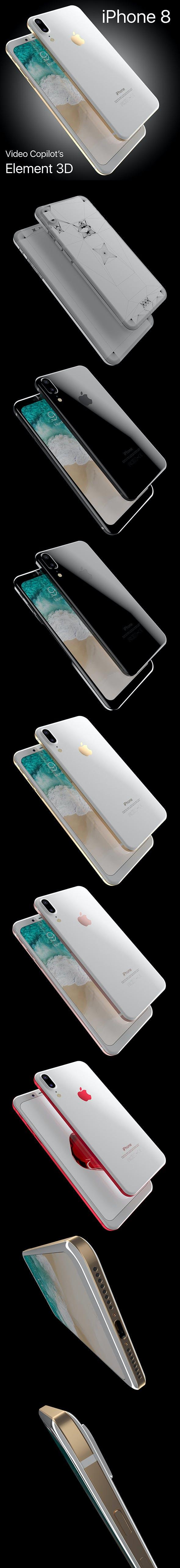 Apple iPhone 8 X Concept Leak Corner edges All Colors - 3DOcean Item for Sale