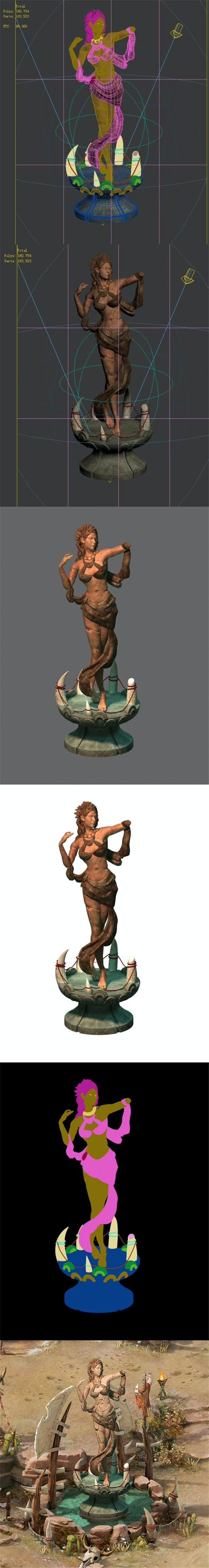 Forgotten tribe - harvest goddess broken stone - 3DOcean Item for Sale