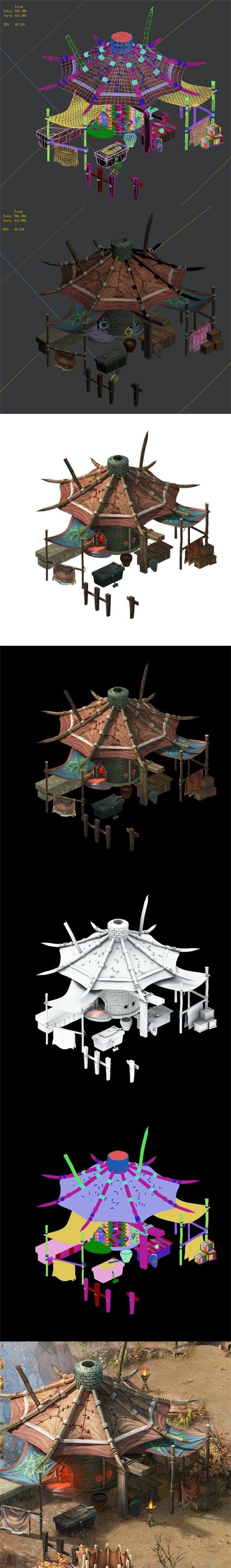 Forgotten tribe - blacksmith shop - 3DOcean Item for Sale