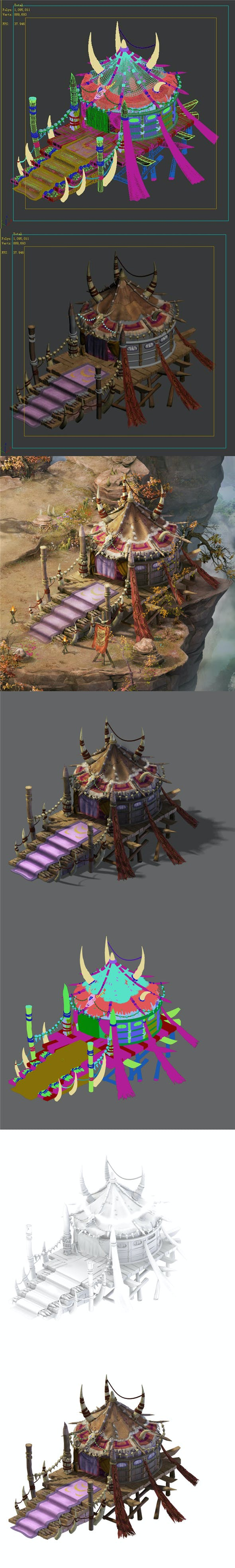 Forgotten tribe - tent 01 - 3DOcean Item for Sale