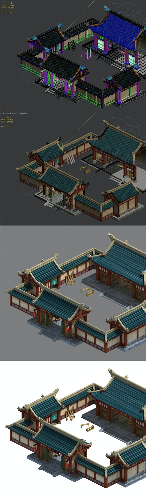 Ancient Chinese Architecture - State Government Yamen - 3DOcean Item for Sale