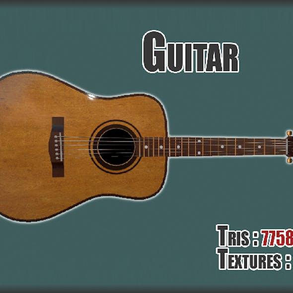 Guitar PBR textures model