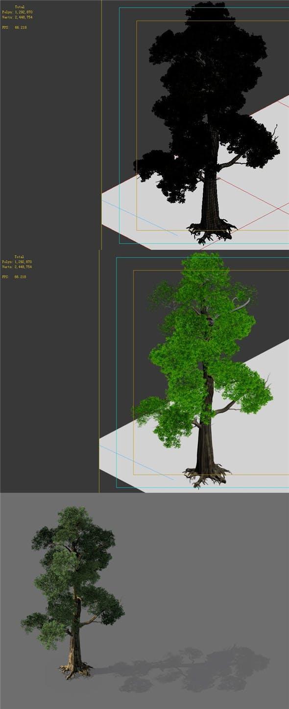 Game model - Alpine - Pine 05 - 3DOcean Item for Sale