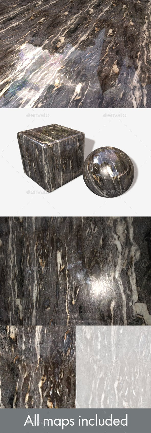 Grey Marble Seamless Texture - 3DOcean Item for Sale