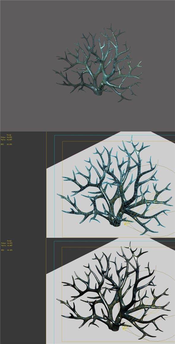 Game Model - Seabed - Coral - 3DOcean Item for Sale