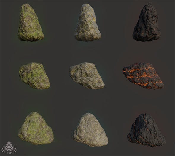 Rock pack RTS - 3DOcean Item for Sale