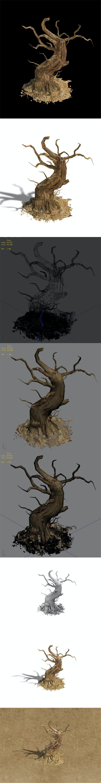 Barracks - desert Dead tree 05 - 3DOcean Item for Sale