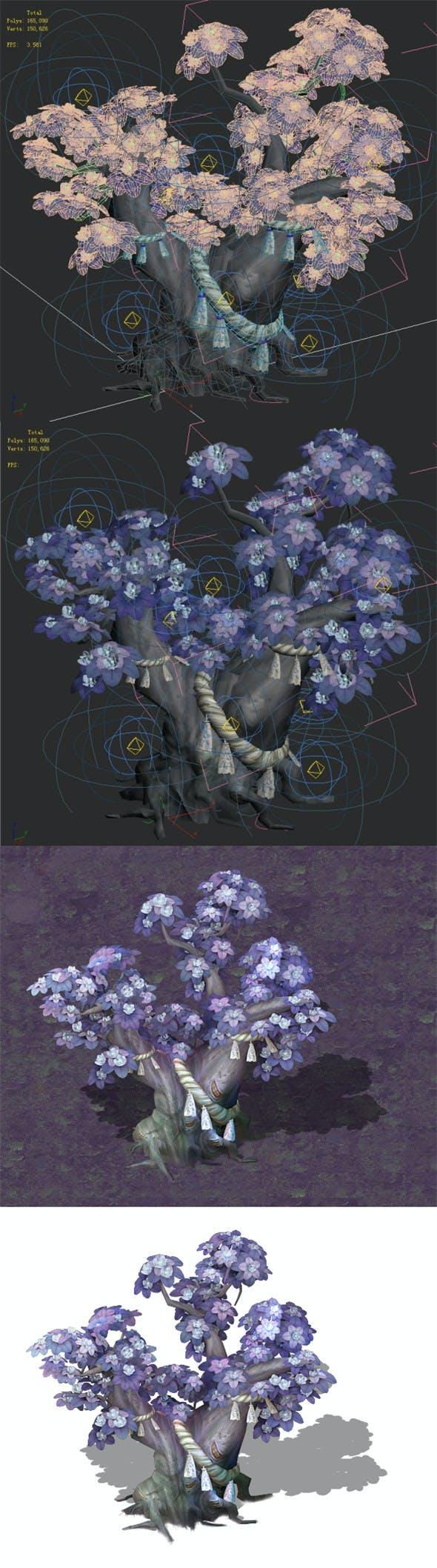 Cartoon hell - soul Flower tree 04 - 3DOcean Item for Sale