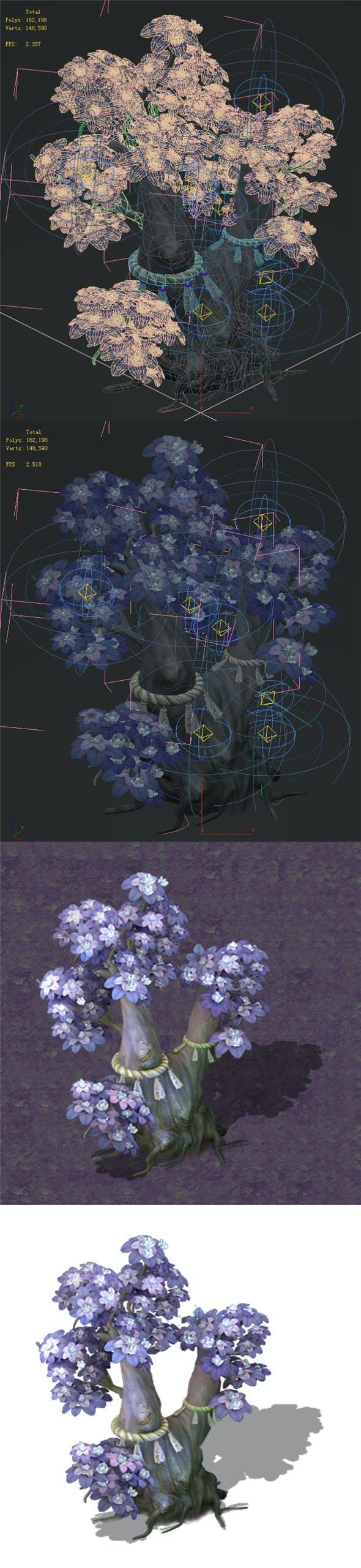 Cartoon hell - soul Flower tree 05 - 3DOcean Item for Sale