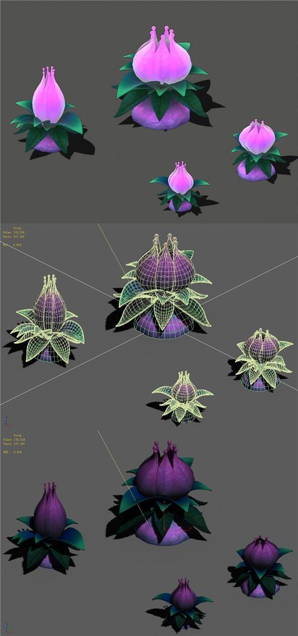 Cartoon sky city - Tianshan snow lotus - 3DOcean Item for Sale