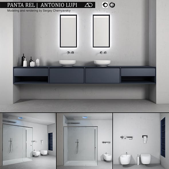 Bathroom furniture set Panta Rel 2 - 3DOcean Item for Sale