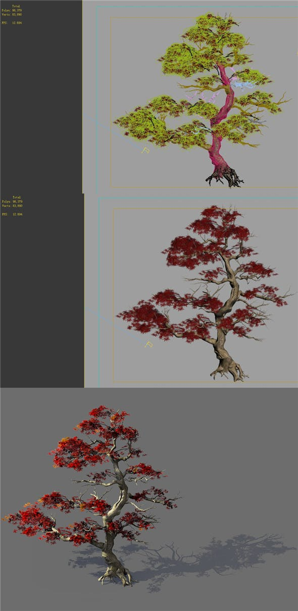 Game Model - Forest - Maple Tree 3 - 3DOcean Item for Sale