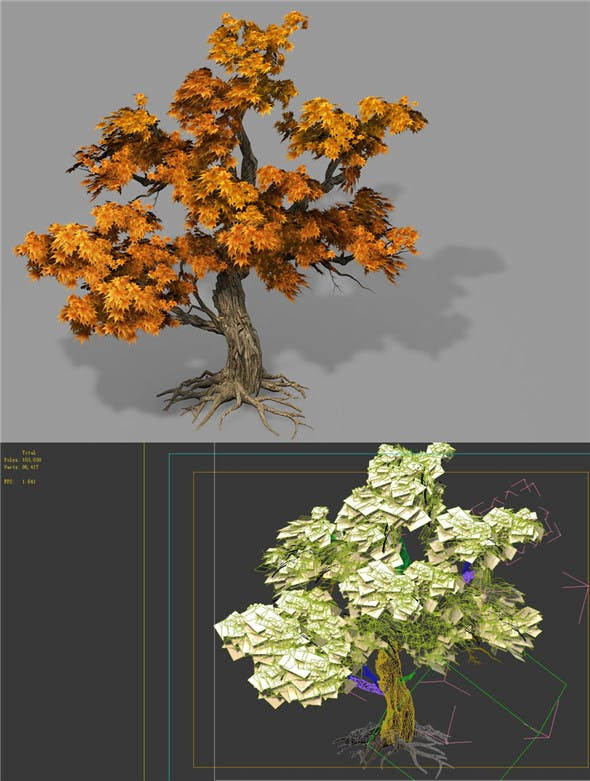 Game Model - Forest - Maple Tree 8 - 3DOcean Item for Sale