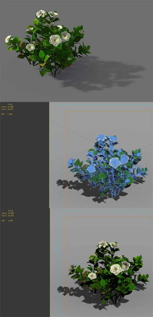 Game Model - Forest - Shrub 09 - 3DOcean Item for Sale