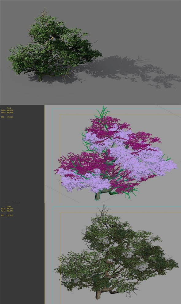 Game Model - Forest - Shrub 14 - 3DOcean Item for Sale