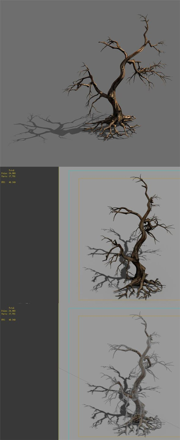 Game Model - Forest - Dead Tree 01 - 3DOcean Item for Sale