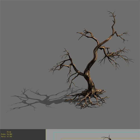 Game Model - Forest - Dead Tree 01