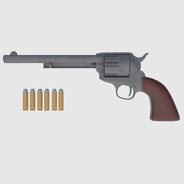 Colt 45 Revolver - Game Ready