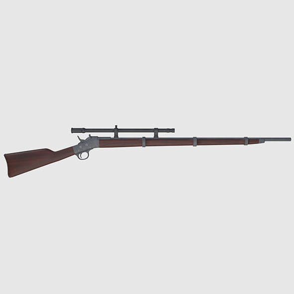 Remington Rolling Block Rifle - Game Ready - 3DOcean Item for Sale