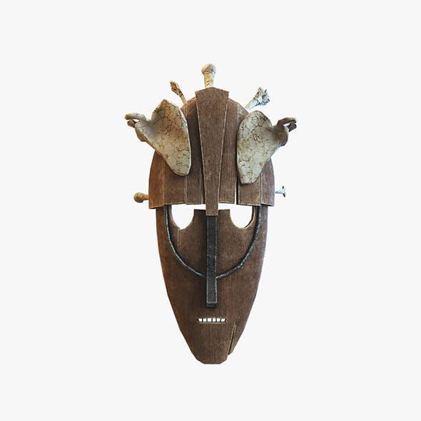 Mask with bones