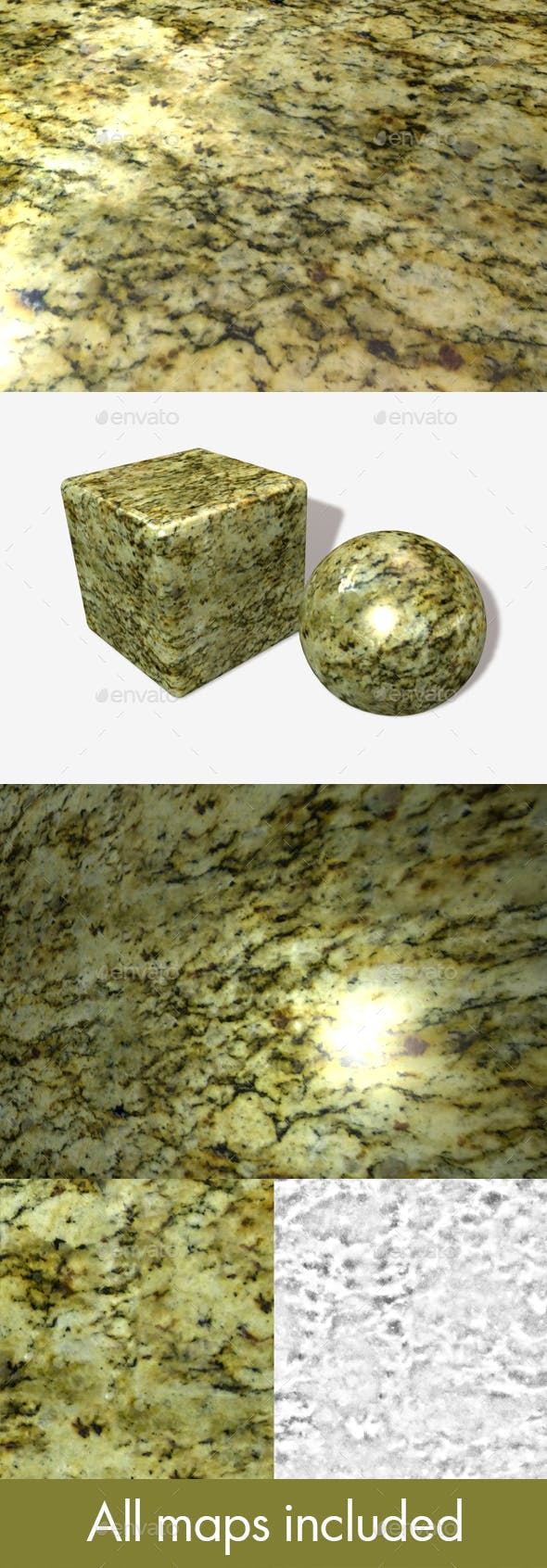 Green Marble Seamless Texture - 3DOcean Item for Sale
