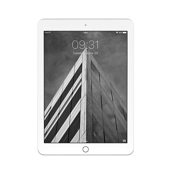 iPad Pro 9.7 Silver - 3DOcean Item for Sale