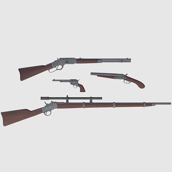 Wild West Weapons Combination Pack - Game Ready