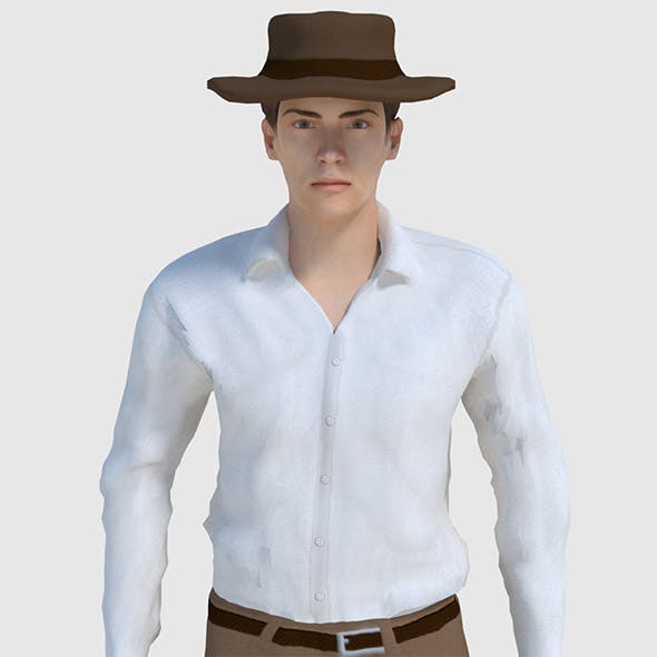 Cowboy Character - Game Ready