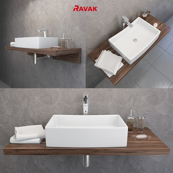 washbasin Ravak Formy - 3DOcean Item for Sale