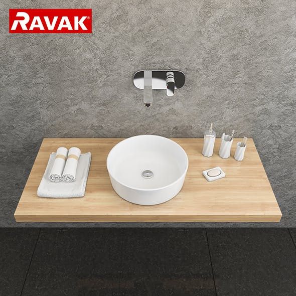 washbasin Ravak Moon 1 - 3DOcean Item for Sale