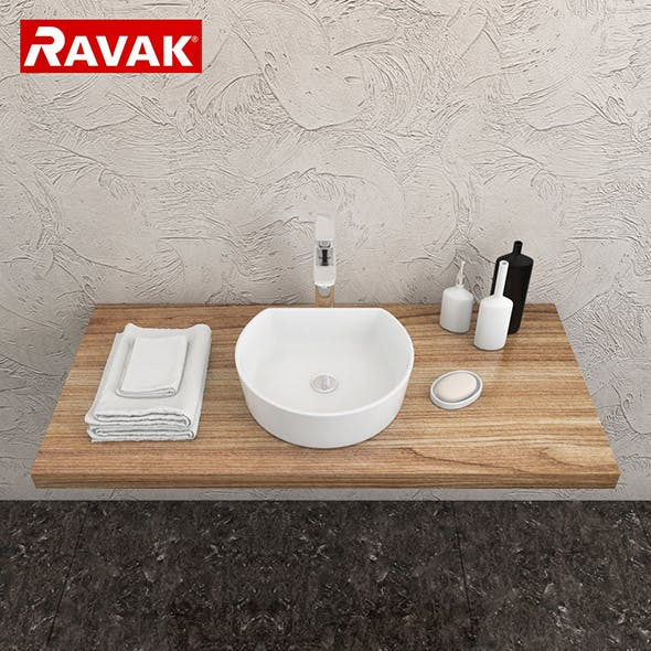 washbasin Ravak Moon 1C - 3DOcean Item for Sale
